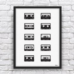 Personalised Cassettes Word Art